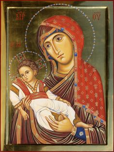 Virgin of Sinai - Aidan Hart Sacred Icons Religious Images, Religious Icons, Religious Art, Images Of Mary, Christian Artwork, Byzantine Icons, Madonna And Child, Catholic Art, Virgin Mary