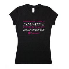 Tupperware Juniors 'Eco-Friendly Innovation' Black Vneck T #dsaccess #tupperware #apparel #tupperwareshirt #tshirt