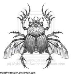Scarab Beetle by ~MyNameIsSwann on deviantART