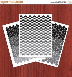 Flash: 66% Of Entire Shop Mini Hexagon Planner Stickers - Black and White - Instant Download - Digital Artwork by mormonlinkshop  1.70 USD  Mini Hexagon Stickers for your planner. The tiles come in many different colors. It can easily be used with your daily planner or in your calendar journal book etc. Hang this now and start decorating today! Keep styling. The JPEG and PDF files will become available for instant download once your payment is confirmed. Once purchased this file may be…