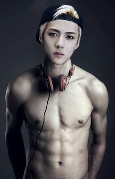 Sehun's abs. Woah. Someone get a fan in here its getting too hot