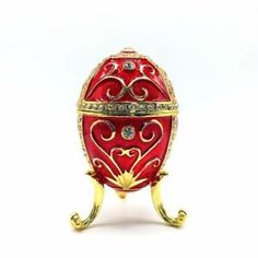 Red Gold Decor Faberge Egg Trinket Box Gift Jewelry Russian Metal Easter Craft #redgold #redgoldfaberge #redgoldegg #decor #fabergeegg #faberge #egg #trinketbox #box #giftbox #craftgift #gift #jewelry #jewelrybox #russian #russianegg #metalegg #eastercraft #easterbox #eastergift #easteregg #ebay #buy
