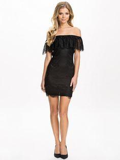 Eyelash Bodycon Dress - Club L - Black - Party Dresses - Clothing - Women - Nelly.com Uk New Party Dress, Black Party Dresses, Club Dresses, Unique Fashion, Womens Fashion, Party Dresses Online, Tight Hips, Chic Dress, Different Styles