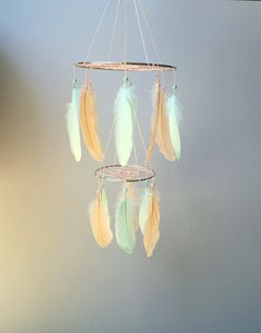 Hey, I found this really awesome Etsy listing at https://www.etsy.com/listing/449922490/feather-mobile-baby-mobile-dream-catcher