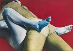 Joan Semmel - Red White and Blue, 1973 Oil on canvas; 48h x 58w in (121 ...