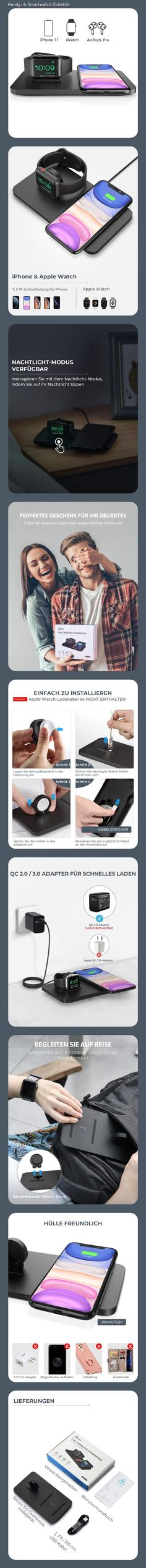 898 Pins zu Handy & Smartwatch Zubehör für 2019