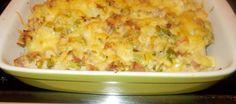 Ovenschotel bloemkool met gehaktsaus, gegratineerd met kaas