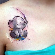 40 Lovely and Cute Elephant Tattoo Design - Bored Art