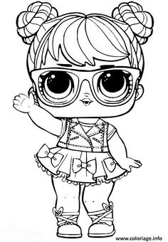 LOL Surprise Doll Coloring Pages Miss Baby - Free Printable Coloring Pages Unicorn Coloring Pages, Cute Coloring Pages, Coloring Pages For Girls, Coloring Pages To Print, Free Printable Coloring Pages, Coloring For Kids, Coloring Sheets, Coloring Books, Doll Party