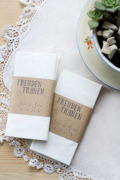 15x Freudentränen Taschentücher von MG - Photography auf DaWanda.com