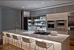 Cozinha cinza