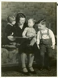 Vintage Photo Reading with Mother