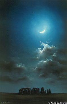Stonehenge by moonlight...