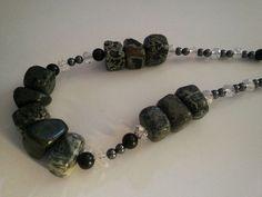 Chunky Jasper Beaded Necklace #Cluster
