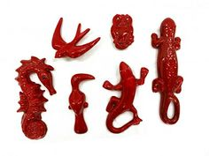 Animales de cerámica para decorar la pared. Ceramic animals to decorate walls.