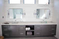 master bath vanity! nice. natural light for makeup and shaving.