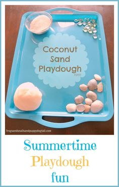 coconut sand play dough recipe and play ideas