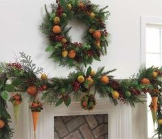 could use dollar store fake fruit on a wreath colonial christmas decorations colonial - Colonial Christmas Decor