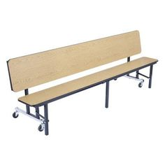"""National Public Seating Rectangular Cafeteria Table Size: 96"""" L x 29"""" W, Tabletop Color: Marigold, Material: Particle Board"""