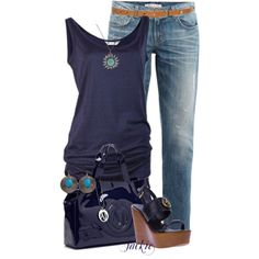 polyvore boyfriend jeans | ... jeans, Tory Burch sandals and Armani Jeans tote bags. Browse and shop