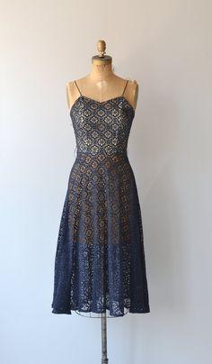 Time Traveler dress vintage 1950s dress lace 50s by DearGolden