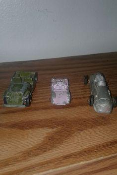 Antique Midge & TootsieToy Metal Cars rare Pink Metal Car  #MidgeTootsieToy