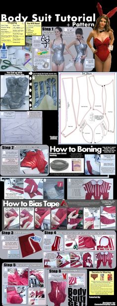 %u265BGREAT idea for not just a bunny suit! - Bunny Girl Bodysuit Tutorial and Pattern by *calgarycosplay on deviantART