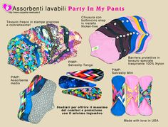 PIMP: Party in My Pants. Soft, thin, comfy and chic! https://www.coppetta-mestruale.it/assorbenti_lavabili.php