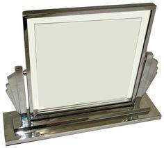 Art Deco Chrome Swivel Vanity Mirror