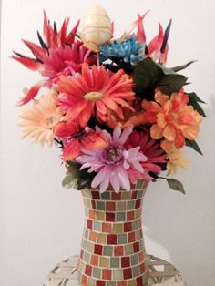 Beautiful Handmade EASTER FLORAL ARRANGEMENT by cappelloscreations, $35.00@Etsy