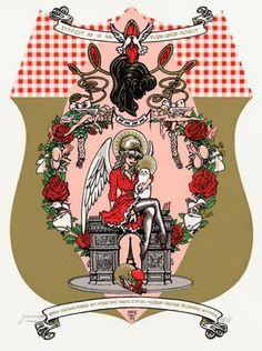 Peter Pontiac - Sacred Pin-ups - Brigitte Bardot - Griffioen Grafiek