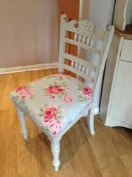 Image result for pictures of white shabby chic wooden chairs with bright floral cushions