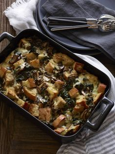 Kale and Mushroom Bread Pudding - not sure if this could be made vegan or not but I'm willing to try