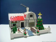 Custom LEGO Holiday Cottage