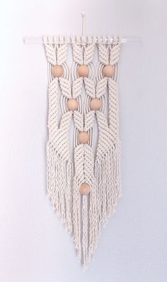 Modern Macrame Wall Hanging :HANE no.5: HIMO ART by May Sterchi