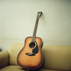 This is my acoustic guitar. I got this when I was 9 (The year before I came to Camp Half-Blood.)
