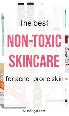 The Best Non-Toxic Skincare for Acne Prone Skin to clear skin and make you feel more confident. These acne skincare tips will clear your skin quickly! If you want non-toxic skincare products, then this skincare guide is for you Acne Skin, Acne Prone Skin, Oily Skin, Sensitive Skin, Light Therapy Acne Mask, Homemade Skin Care, How To Treat Acne, Organic Skin Care, Organic Beauty
