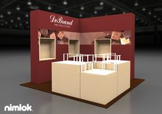 This 10x10 corner booth was perfectly matched to the needs of  DeBrand.
