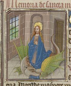 Saint Margaret, early 1460s, Workshop of Willem Vrelant, MS. LUDWIG IX 8, FOL. 81. J. Paul Getty Museum