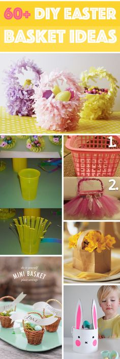 60+ DIY Easter Basket Ideas For Your Freshly Dyed Easter Eggs! - Here you will find 60+ ideas for the most original Easter baskets.