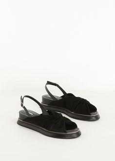 Dries Van Noten Sling Back Sandal (Black)