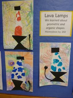 I LOVE this idea for teaching the difference between geometric and organic/ freeform shapes!!! Freeform shapes grade 4