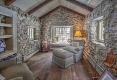Tour a 1730 Historic Stone Cottage That's Storybook Perfect...wonderful place to read! Love this!