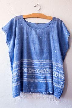 matta blue kwari top