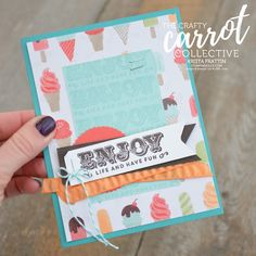 suite sentiments, ice cream, crafty carrot, stamp set of the month, february