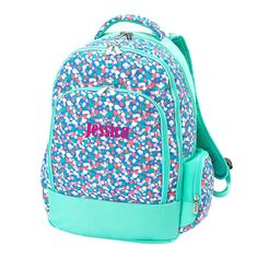 This precious and fun Monogrammed Kids Backpack is perfect for taking to school or vacation. Personalize your backpack with your embroidered monogram today! Monogram Backpack, Personalized Backpack, Tote Bags For School, School Bags For Kids, Girl Backpacks, Backpacker, Vera Bradley Backpack, Sorbet, Confetti