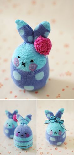 Sock crafts, bunny crafts, easter crafts, soft toys making, cute easter Kids Crafts, Sock Crafts, Bunny Crafts, Easter Crafts, Fabric Crafts, Easter Decor, Easter Ideas, Softies, Plushies