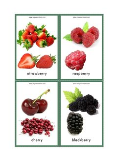 Looking for Flashcards to teach fruit names to your preschool/kindergarten child? Check our Free Printable Fruits Flashcards With Pictures. Fruits Name With Picture, Fruit Picture, Raspberry, Strawberry, Blackberry, Baby Flash Cards, Fruit Salad Making, Fruit Names, Vegetable Pictures