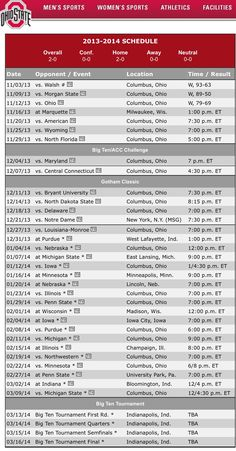 Men's Basketball Schedule