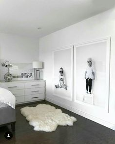 Ways To Embellish Your Kids Bedroom - home - Bedroom Home Bedroom, Master Bedroom, Bedroom Decor, Bedroom Black, Bedroom Kids, Ikea Bedroom Design, Apartment Bedrooms, White Bedrooms, Bedroom Prints